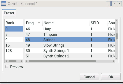 Qsynth and FluidSynth on Raspberry Pi: The basics | Sand, software
